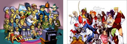 Futurama y Los Simpson versión anime