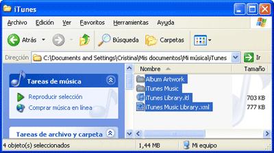 Copia de los archivos iniciales