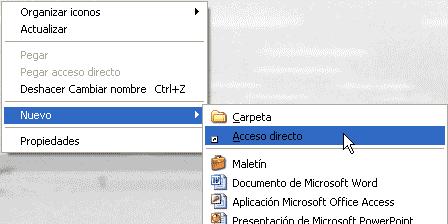 Nuevo acceso directo