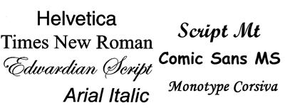 Algunas tipografías