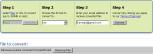 Captura de la pantalla de conversión